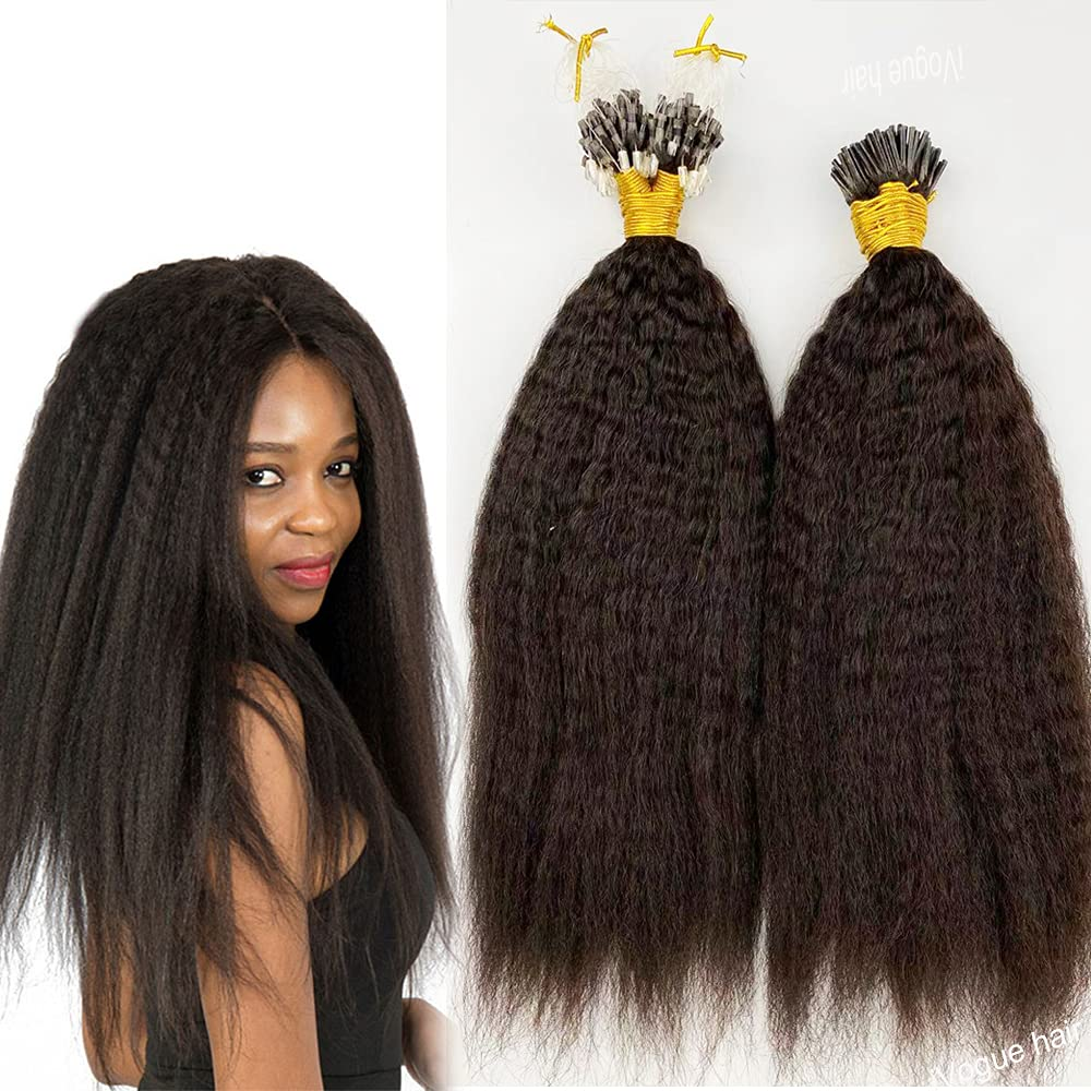 Micro Max 48% OFF Loop Hair Sales results No. 1 Extensions Brazilian Remy Virgin Stra Kinky