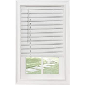 "Achim Home Furnishings Cordless Morningstar 1"" Light Filtering Mini Blind, Width 18inch, Pearl White"