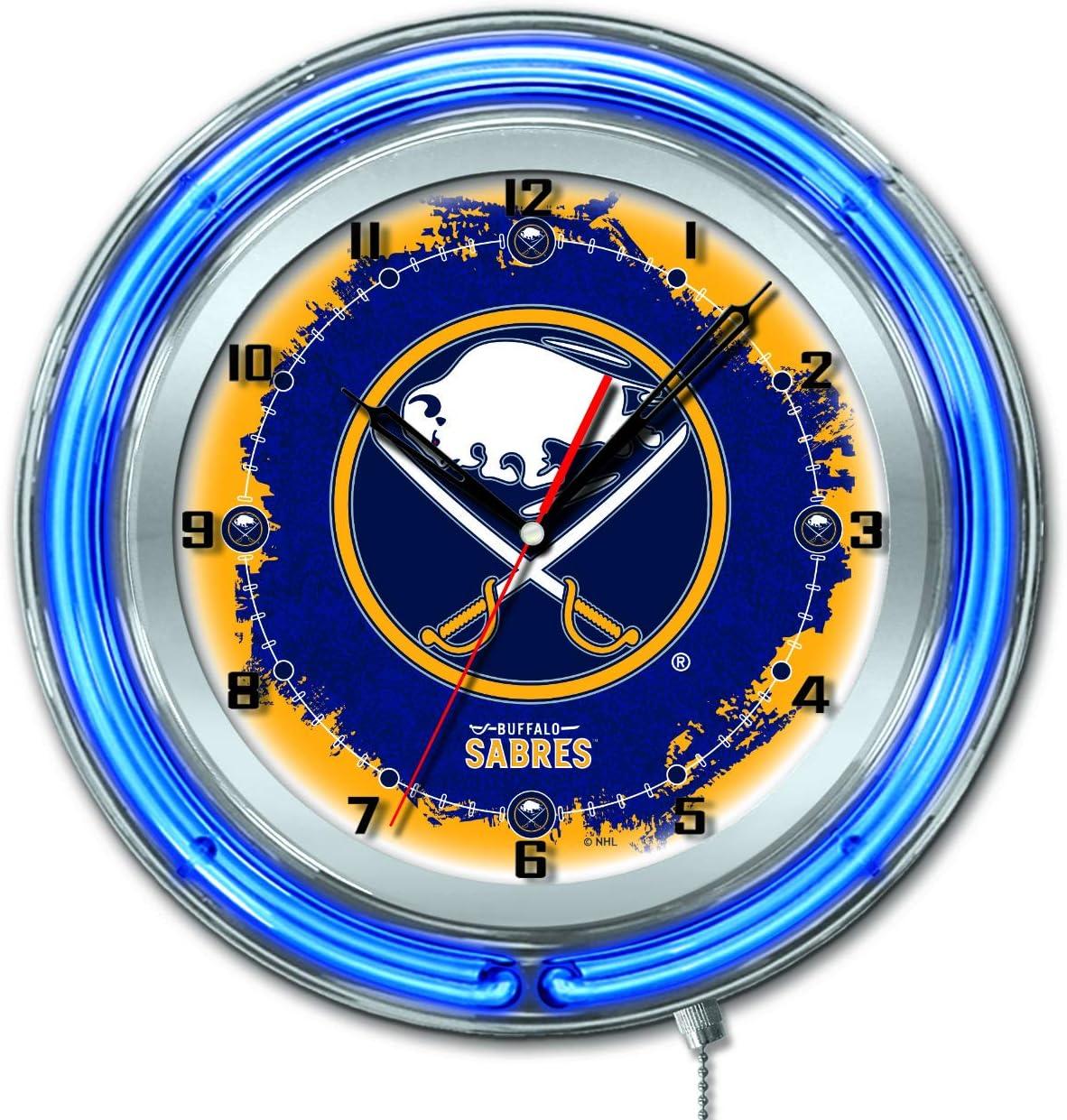 2021 autumn and winter new Holland trend rank Bar Stool Co. Buffalo Sabres Blue Neon Hockey HBS Batter