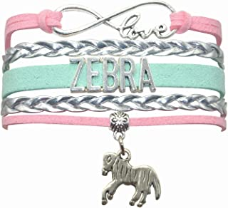 HHHbeauty Zebra Bracelet Jewelry Gifts Leather Infinity Love Zebra Gifts Zebra Jewelry Bracelet Gifts for Women, Girls, Me...