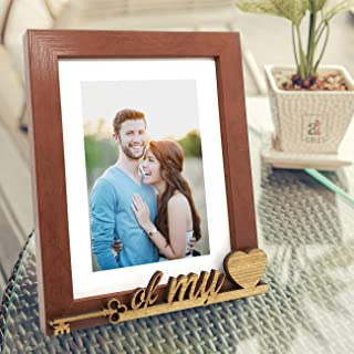 Art Street Key of My Heart Customize Table Photo Frame (Photo Size 6X8) - Brown