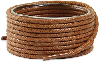 Dress Shoes' Waxed Round Shoelaces for Men & Women, 2 Pair Pack