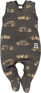 FLIKEFASHION-PINOKIO OLD CARS Kinder Mädchen Jungen, Baby Strampler/Schlafanzug/Einteiler/Gesamt, Größen: 56-74, 100% Baumwolle, Hergestellt in EU