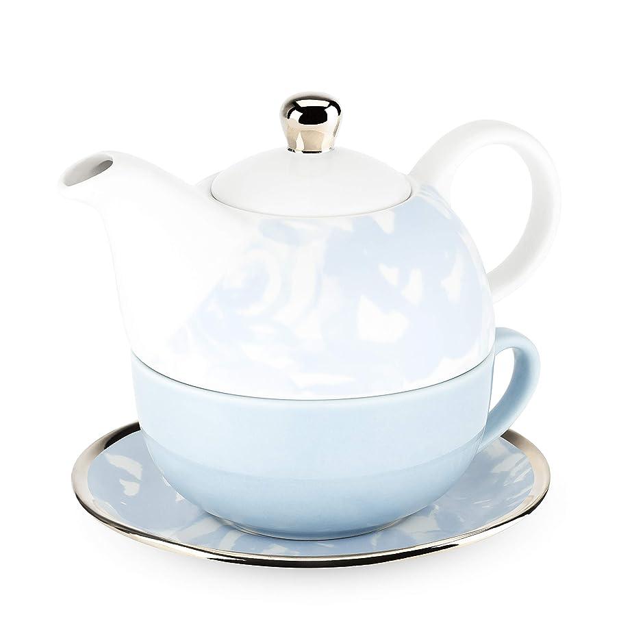 用量神のマサッチョピンキーUp Addison Dusty Blue Floral Tea for One Set