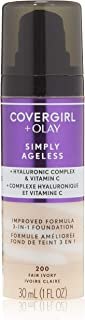 Covergirl Simply Ageless 3-in-1 Liquid Foundation, Fair Ivory, Pack of 1