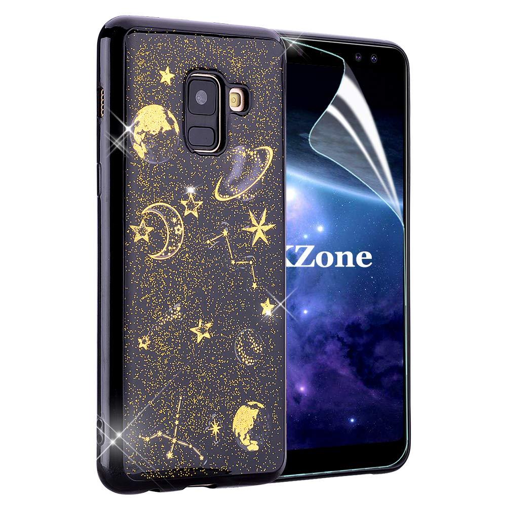 OKZone Funda Galaxy A8 2018, [Serie Noche Estrellada] Cárcasa Brilla Glitter Brillante TPU Silicona Teléfono Smartphone Móvil Case [Protección a Pantalla y Cámara] para Samsung Galaxy A8 2018: Amazon.es: Electrónica