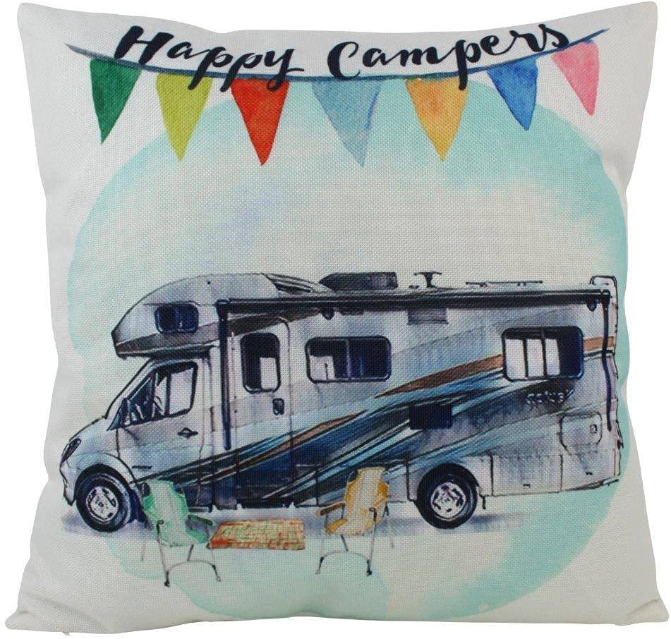 Happy Camper RV Pillow Luxury goods Decorations Throw Cover Limited Special Price Pi