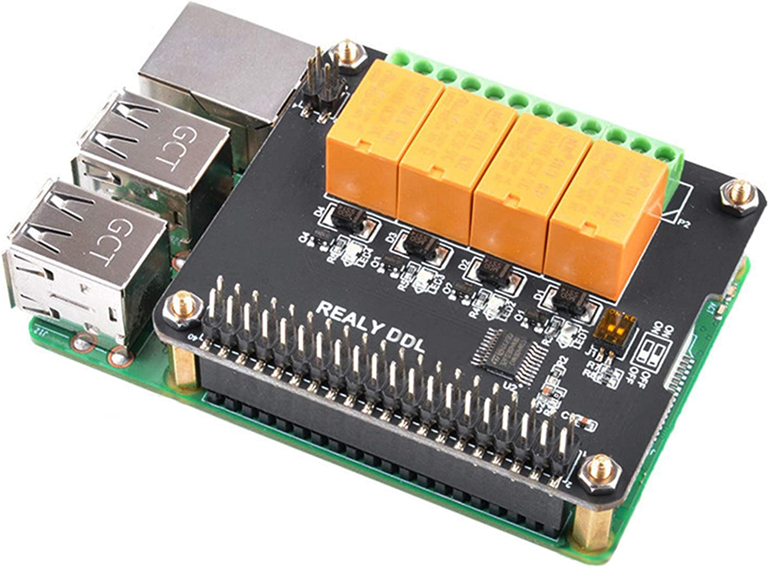 MakerFocus Raspberry Pi Expansion Board Popular standard Relay 4 Louisville-Jefferson County Mall Mo Channel