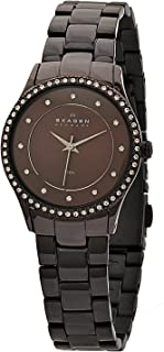 Skagen Women's 347SDXD Black Label Brown, Stainless Steel With Swarovski Elements Watch