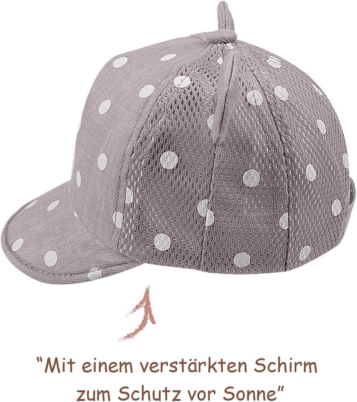 Pesaat Baseballkappe Baby Junge Schirmm/ütze Baby M/ütze fr/ühling Sommer M/ädchen mit Gr/ö/ßenregulierung Baby Baseballm/ütze