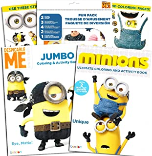 Despicable Me Minions Coloring and Activity Book Super Set with Stickers, Tattoos, Posters, and More (2 Coloring Books and Fun Pack)