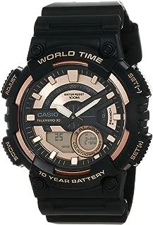 Casio Men's Dial Resin Band Watch - AEQ-110W-1A3VDF