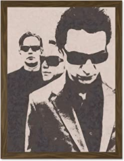 Doppelganger33 LTD Painting Music Depeche Mode Band Large Framed Art Print Poster Wall Decor 18x24 inch Supplied Ready to Hang