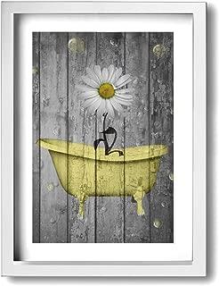 yellow bath decor