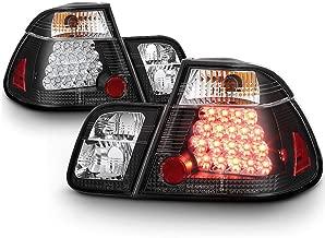 VIPMOTOZ Black Bezel Premium LED Tail Light Housing Lamp Assembly For 2002-2005 BMW E46 3-Series LCI Sedan Driver and Passenger Side Replacement
