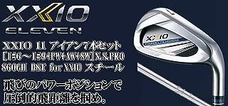 DUNLOP(ダンロップ) XXIO 11 ゼクシオ11 ゼクシオ イレブン アイアン 7本セット (番手I#6~PW+AW+SW) N.S.PRO 860GH DST for XXIO スチールシャフト メンズゴルフクラブ 右利き用 ネイビー