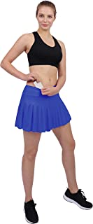 HonourSex Womens Tennis Pleated Skorts Golf Workout High Waist Biult in Skirts Sports Active Wear with Pockets