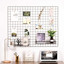Kaforise Vinyl Dipped Wire Wall Grid Panel, Multifunction Photo Hanging Display and Wall Storage Organizer, Pack of 1, Size 39.4
