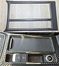 For Volkswagen Vw Golf 7 Mk7 Vii Gti 2014-2017 Console Water Cup Holder Cigarette Lighter Frame Cover Trim Carbon Fiber