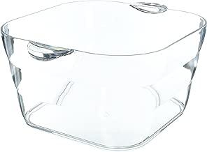 Prodyne AB-18-A Big Square Party Beverage Tub, Clear