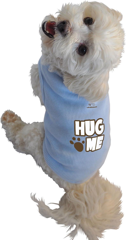 Ruff Ruff and Meow ExtraLarge Dog Tank Top, Hug Me, bluee