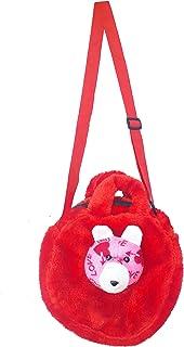 Generic Soft Fur Kids Bag For Baby Girls Puppy Face Designed