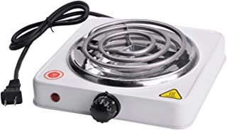 Family Home 1000W Single Coiled Burner (White)