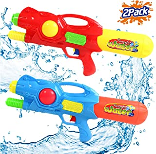 Liberty Imports 2 Pack Water Soaker Gun Super High Capacity 1000ml Power Soaker Blaster - Kids Toy Party Pool Beach Outdoor Activity Water Combat Squirt Shooters