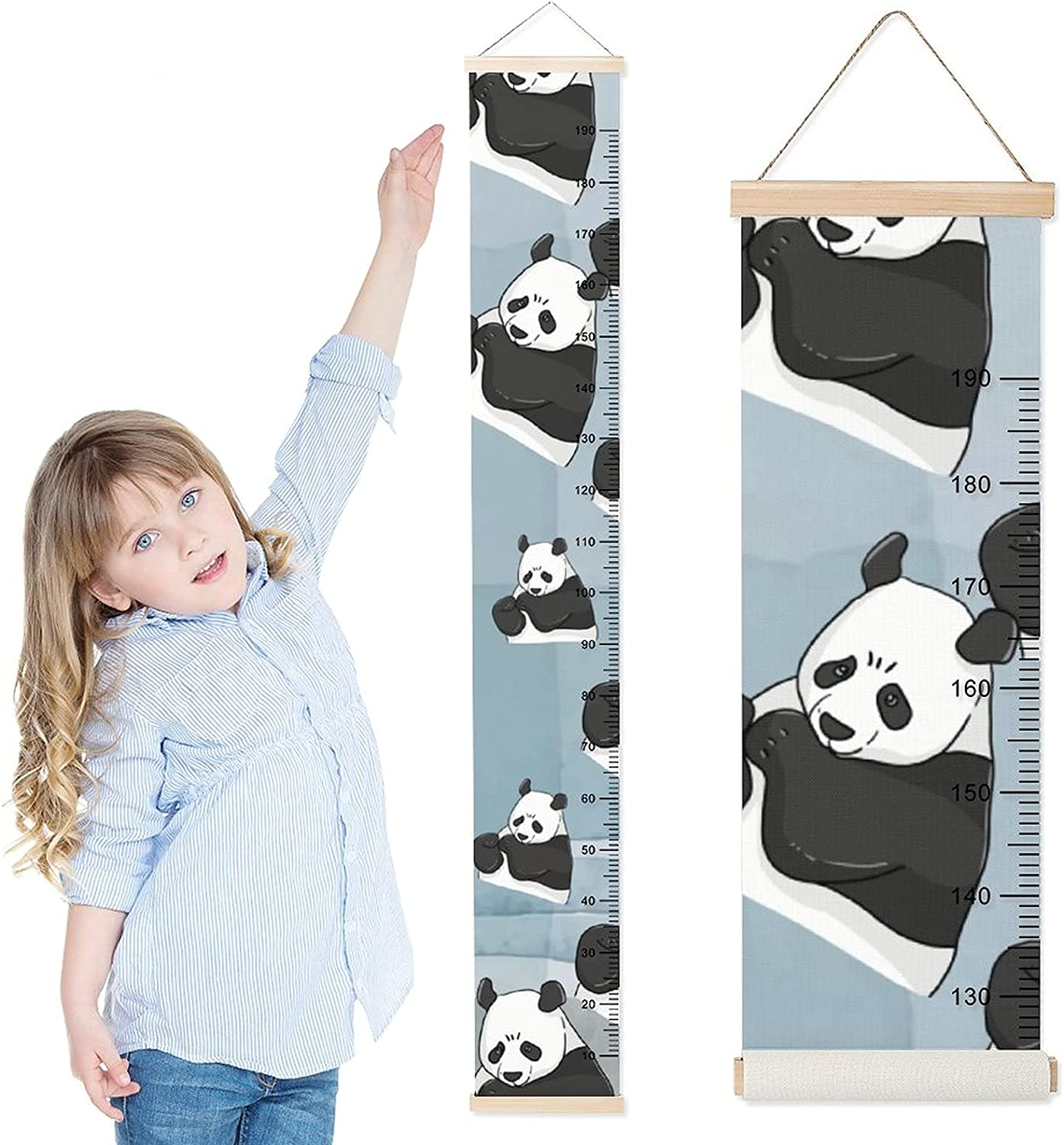 DKISEE Baby Over item handling Growth Chart Raleigh Mall Child f Height Wall Ruler Hanging