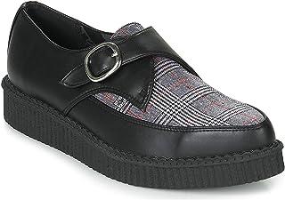 4f1aa5d2dd8d5e T.U.K. Shoes Hommes Femmes Noires Tukskin & Plaid Pointu Boucle Creeper  EU40 / UKW7