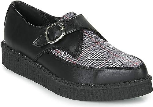 T.U.K. chaussures chaussures Hommes Femmes Noires Tukskin & Plaid Pointu Boucle Creeper EU43   UKM9  économisez jusqu'à 30-50%
