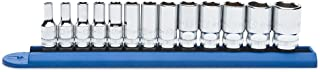 """GEARWRENCH 13 Pc. 1/4"""" Drive 6 Pt. Mid-Length Socket Set, Metric - 80304S"""