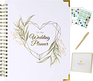 $32 » Wedding Planner Book and Organizer for The Bride - Gold Kit - Engagement Gift for Couples - Bride to Be Gifts for Her - Fu...