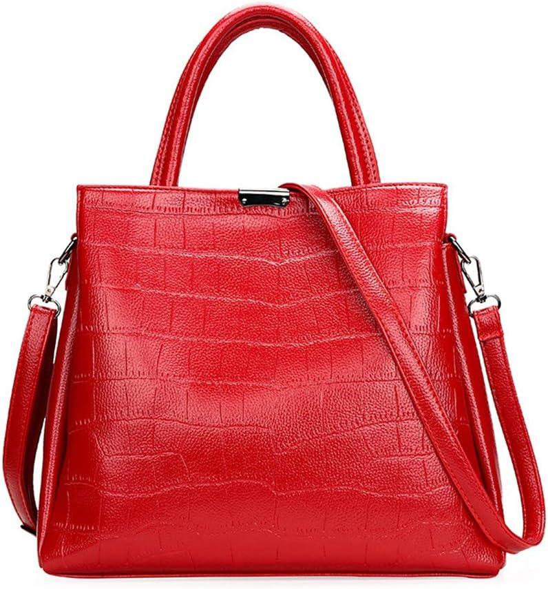 Kanqingqing Sac à Main en Cuir PU de Mode Sacs à Main pour Femmes Sacs à Main de Mode pour Les Femmes Sacs à bandoulière en Cuir PU Sacs fourre-Tout Messenger (Color : Blue) Red