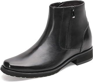 CHAMARIPA Homme Bottes - 8 CM Chaussure Rehaussantes Homme Bottes à Glissière Ville Noir H02B145B011D