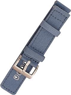 Correa de Reloj, Correa de Reloj de Lona 18 mm, 20 mm, 22 mm Correa de Reloj de Repuesto de Fácil Cambio para Mujeres y Ho...