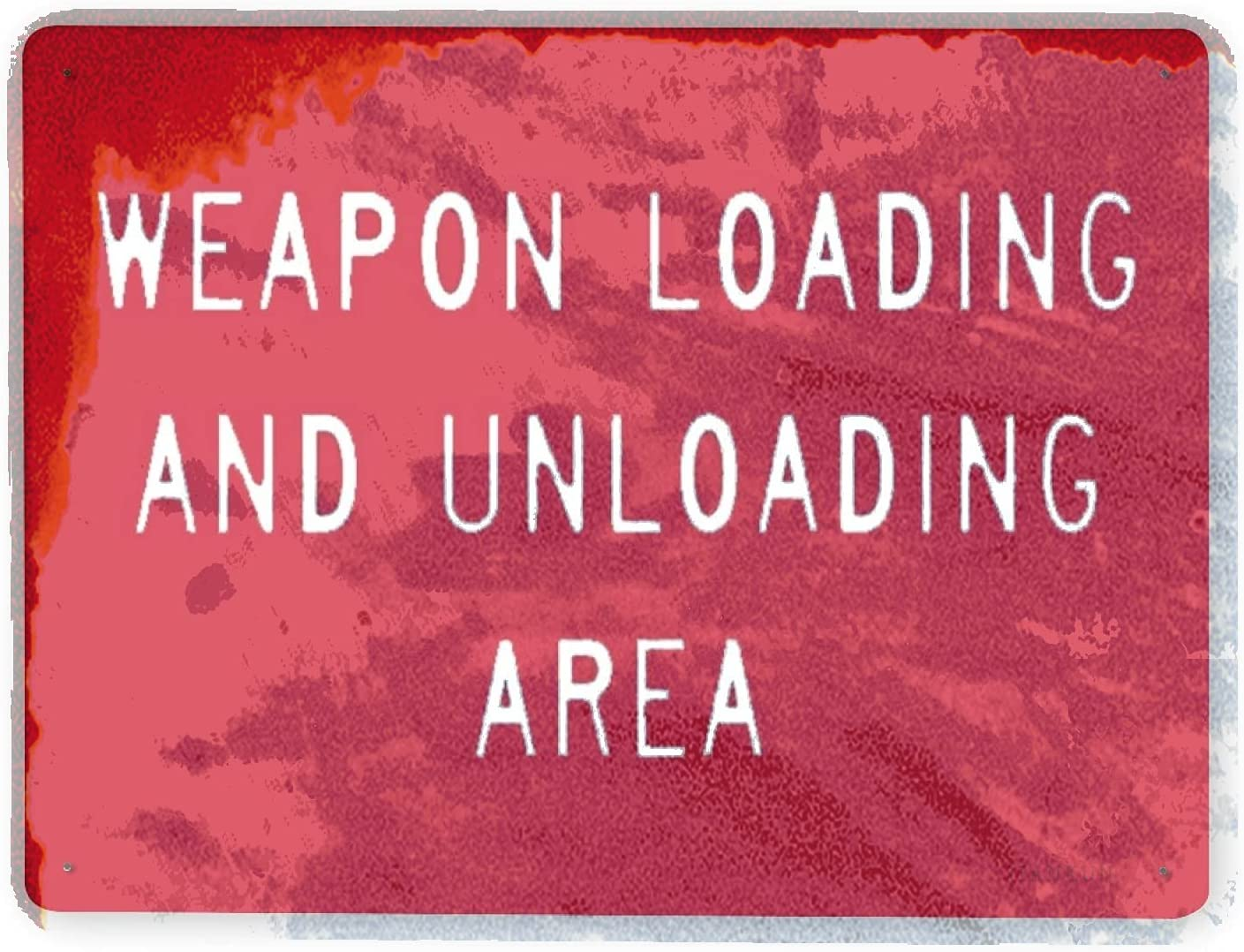 Easy-to-use J.DXHYA Man Cave Decor 2 Pieces Warning Sign Cheap mail order specialty store Shooting Range Load