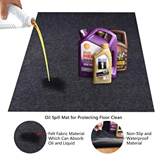 KALASONEER Oil Spill Mat,Absorbent Oil Mat Reusable Washable,Contains Liquids, Protects Driveway Surface,Garage or Shop,Pa...