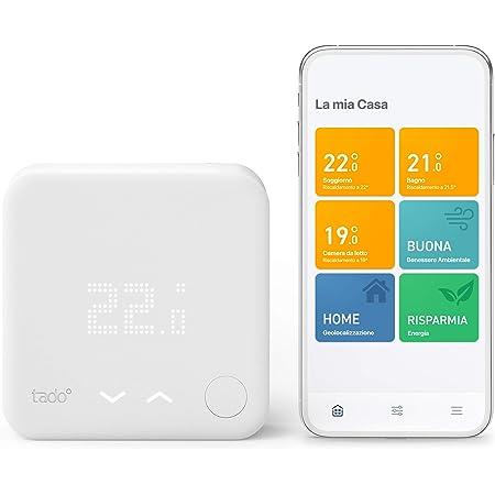 tado° Kit di Base Termostato Intelligente Cablato V3+, Controllo Intelligente del Riscaldamento, Semplice Installazione Fai da Te, Funziona con Alexa, Siri e Google Assistant