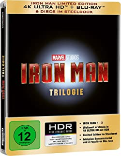 Iron Man Trilogy edición limitada Steelbook [4K Ultra HD] [Blu-ray]