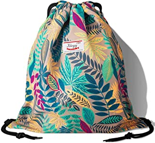 Drawstring Bag Water Resistant Lightweight Gym Sackpack for Casual Swimming Yoga