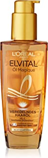 L'oréal Paris Elvital Oil Magique Refining Hair Oil 1 x 100 ml for All Hair Types with 6 Precious Flower Oils
