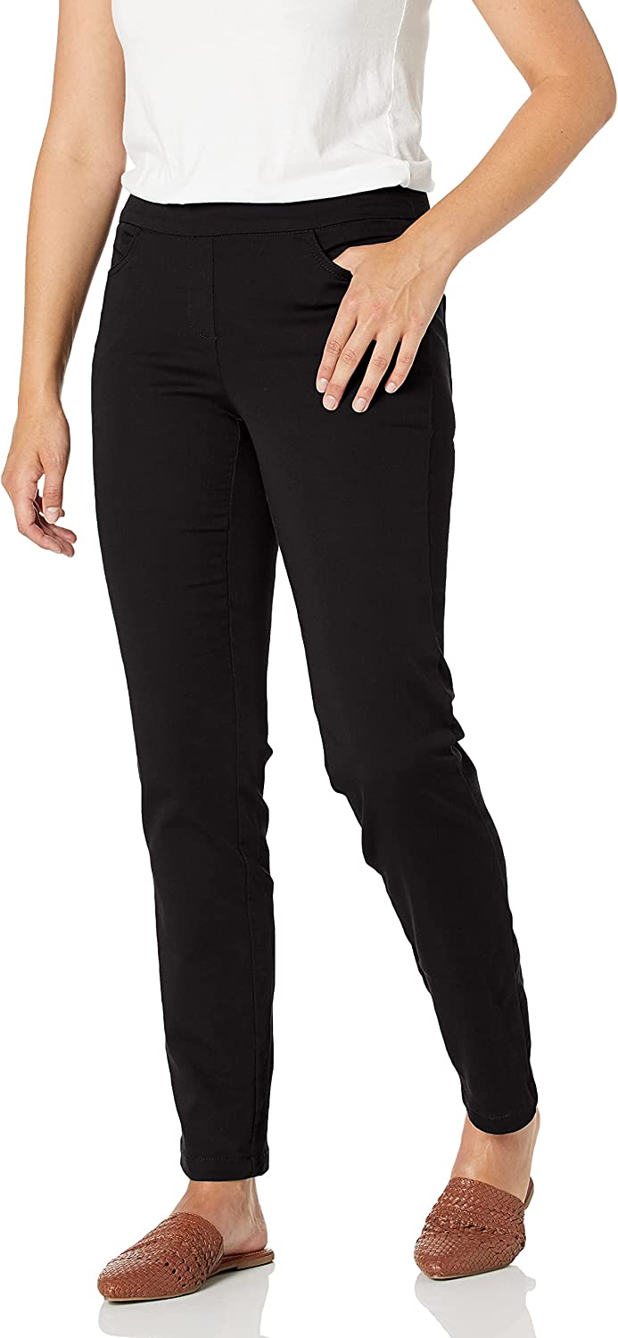 Briggs New York Women's Cotton Super Stretch Pull-on Pant