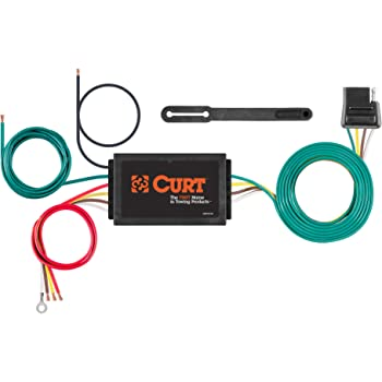 CURT 56146 Powered 3-to-2-Wire Splice-in Trailer Tail Light Converter, 4-Pin Wiring Harness