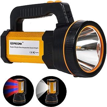USB Recargable LED Linterna Lámparas de mano Súper brillante Portátil Alta Potencia 6000 lúmenes grande batería 10000mAh charged de larga duración antorcha, más brillante Luz de trabajo lateral Linterna de camping