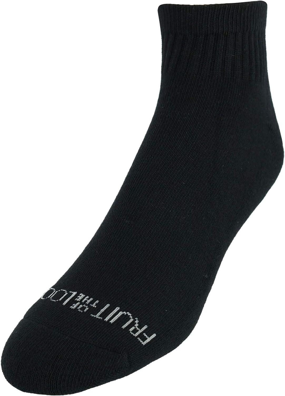 Fruit of the Loom Men's Ankle Athletic Cotton Blend Socks (6 Pair Pack)