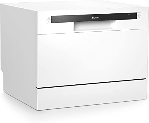 hOmeLabs Compact Countertop Dishwasher - Energy Star Portable Mini Dish Washer in Stainless Steel Interior for Small ...