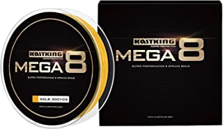 KastKing Mega8 Braided Fishing Line, Advanced 8 Strand Braided Line - Rounder, Stronger, Softer, Smoother, More Sensitive, Casts Farther, Zero Stretch & Memory, Great Knot Strength, More Color Fast