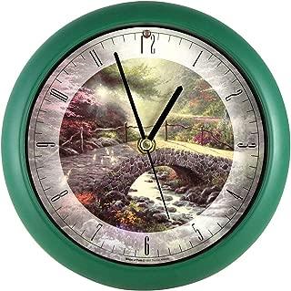 Johnson Smith Co. (Set) Thomas Kinkade Bridge of Faith Clock Wall Or Desk Display w/Batteries