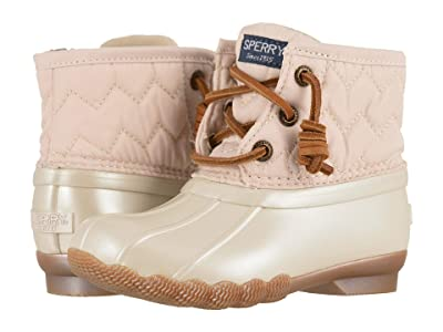 Sperry Kids Saltwater Boot (Toddler/Little Kid) (Pearlized Ivory) Girl